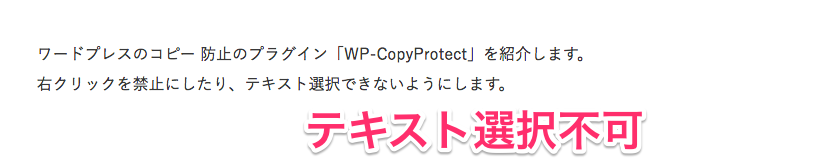 WP Copy Pretect設定後