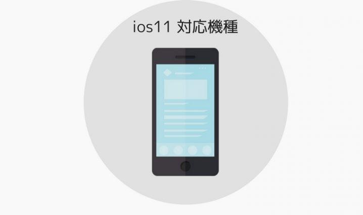 ios11 対応機種 まとめ