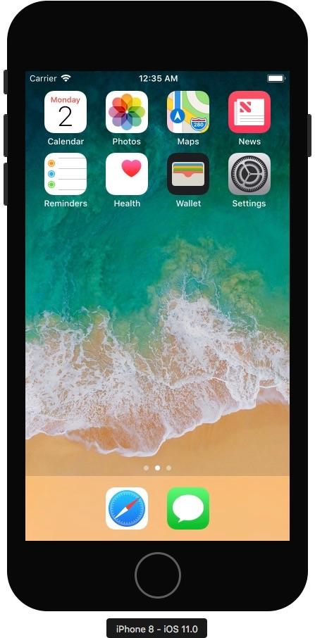iOSのシミュレーターが起動