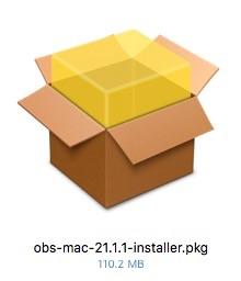 「obs-mac-×.×.×-installer.pkg」をダブルクリック