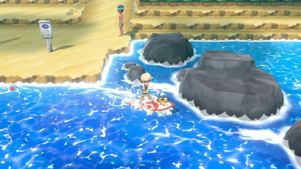 サーブボードに水上を自由に移動できる。歩きではたどり着けない場所にも行けるように。