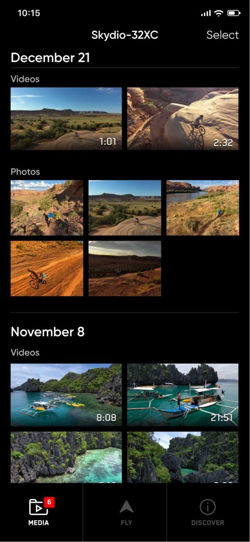 写真をダウンロードし、ビデオクリップをスマホに直接保存して、すぐに共有可能